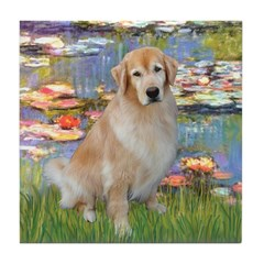 Lilies & Golden Tile Coaster