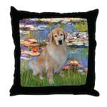 Lilies & Golden Throw Pillow