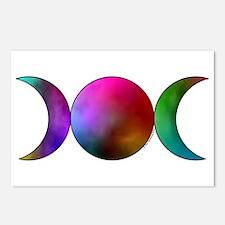 Triple Moon Postcards - Watercolor (Package of 8)