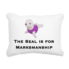 The Seal is for Marksman Rectangular Canvas Pillow