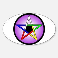 5 Elements Pentacle Oval Decal
