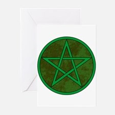 Elemental Pentacle Greeting Cards - Earth (10p)