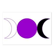 Triple Moon Postcards - Purple (Package of 8)