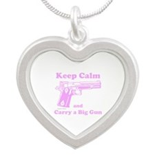 Keep Calm and Carry a Big Gun Necklaces