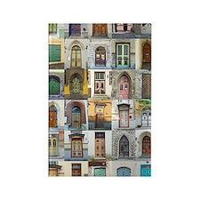 Doors of Tallinn Rectangle Magnet