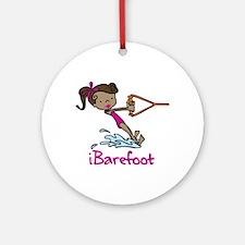 iBarefoot Girl Ornament (Round)