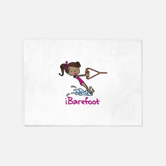 iBarefoot Girl 5'x7'Area Rug