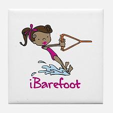 iBarefoot Girl Tile Coaster