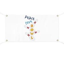 Love Peace Bowl Banner