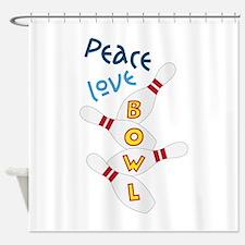 Love Peace Bowl Shower Curtain