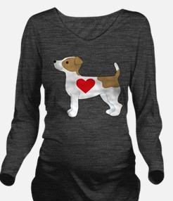 Jack Russell Terrie Long Sleeve Maternity T-Shirt