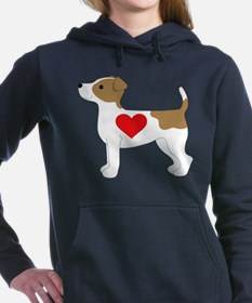 Jack Russell Terrier Women's Hooded Sweatshirt