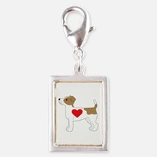 Jack Russell Terrier Silver Portrait Charm
