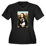 Mona's Tri Cavalier Women's Plus Size V-Neck Dark