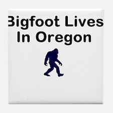 Bigfoot Lives In Oregon Tile Coaster
