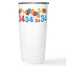 34 years old - 34th Birthday Travel Mug