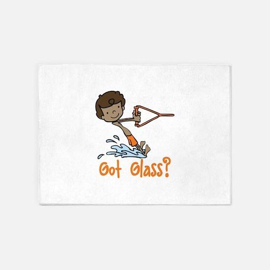 Got Glass 5'x7'Area Rug