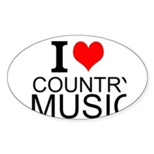 I Love Country Music Decal