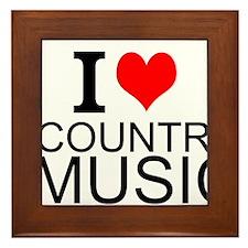 I Love Country Music Framed Tile