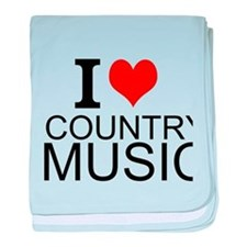 I Love Country Music baby blanket