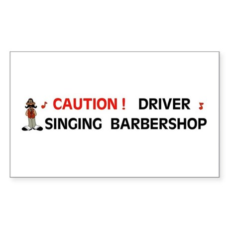 DRIVER SINGING Rectangle Sticker