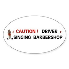 DRIVER SINGING Oval Decal