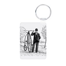 Penny Farthing Bicyclist Keychains