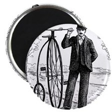 Penny Farthing Bicyclist Magnets
