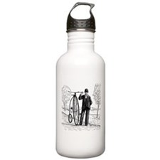 Penny Farthing Bicyclist Water Bottle