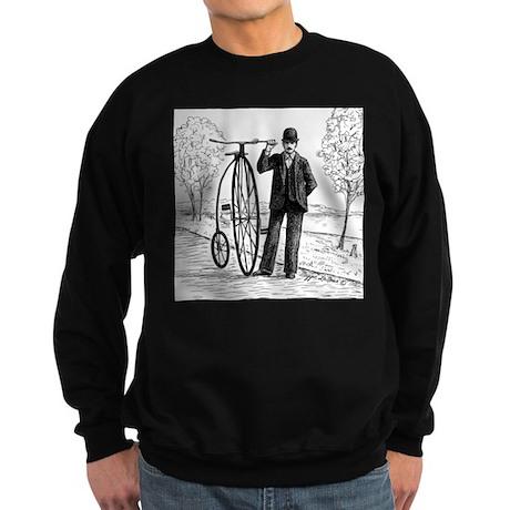 Penny Farthing Bicyclist Sweatshirt