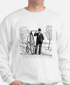 Penny Farthing Bicyclist Sweatshirt