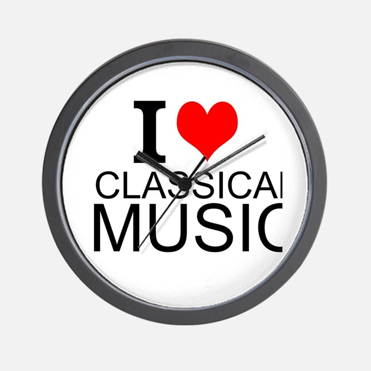 I Love Classical Music Wall Clock