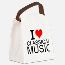I Love Classical Music Canvas Lunch Bag