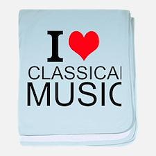 I Love Classical Music baby blanket