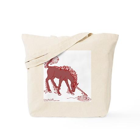Chestnut Unicorn Tote Bag