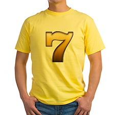 Big Gold Number 7 T-Shirt