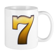 Big Gold Number 7 Mugs