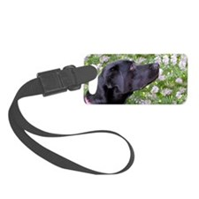 Labrador in the flowers Luggage Tag
