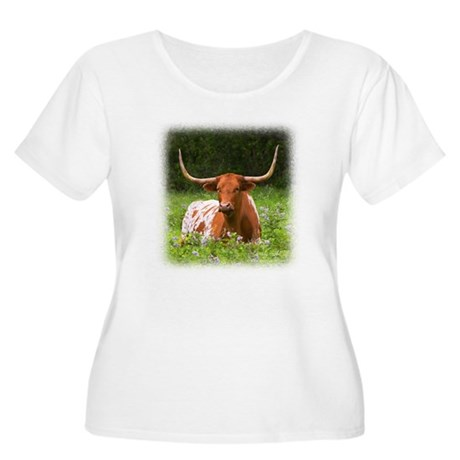 Longhorn Women's Plus Size Scoop Neck T-Shirt