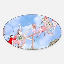 Games of Love Gerda Wegener  Sheer  Sticker (Oval)