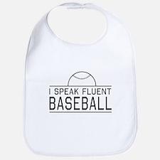 I speak fluent baseball Bib