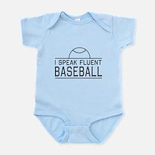 I speak fluent baseball Body Suit