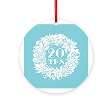 20th Anniversary Wreath Ornament (Round)