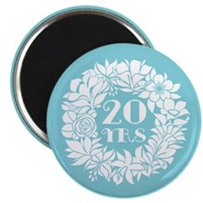 20th Anniversary Wreath Magnet