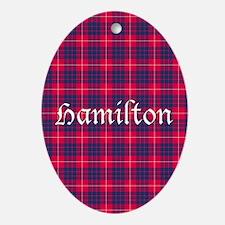 Tartan - Hamilton Ornament (Oval)