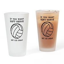 Soft serve get ice cream Drinking Glass