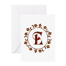 Letter E Monogram Greeting Card