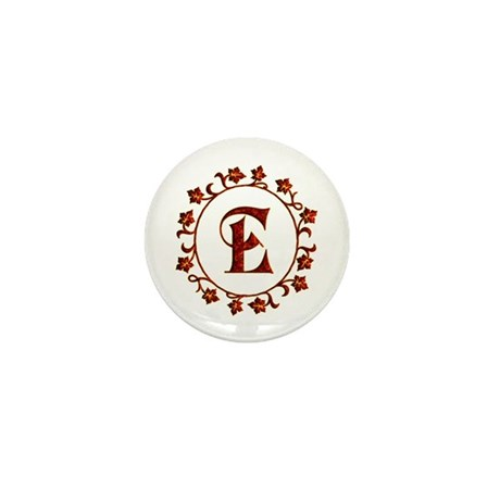 Letter E Monogram Mini Button By Happygiving