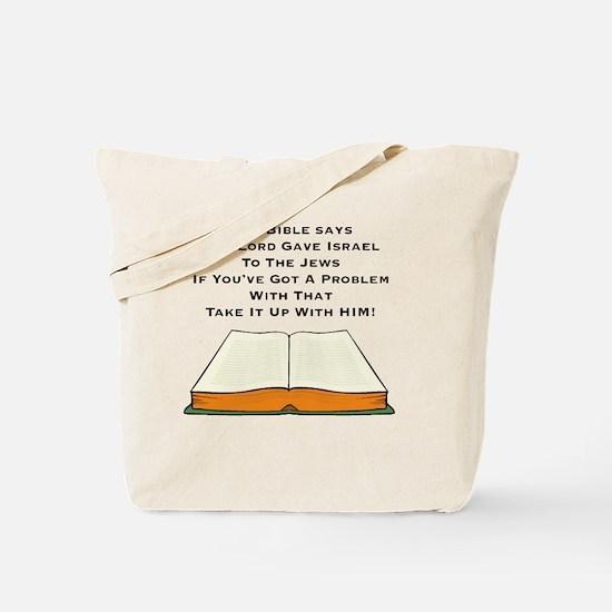 Lord Gave Jews Israel Tote Bag