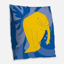 Manatee Burlap Throw Pillow